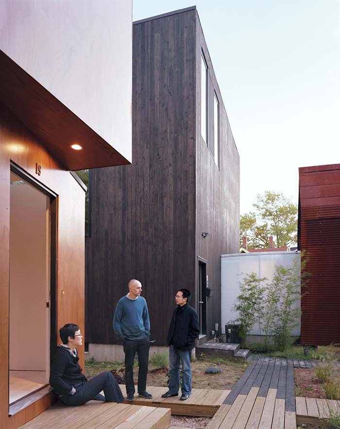on chae won kim and beat schenk of design build company uni created xs house in cambridge ma