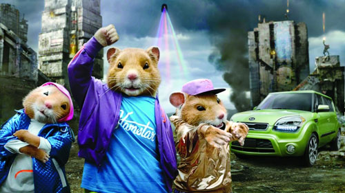 Party Rock Anthem Kia Soul Hamster Commercial : Method Studios